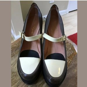Robert Clergerie Shoes - Robert Clergerie Leather Wedge Platforms Size 37